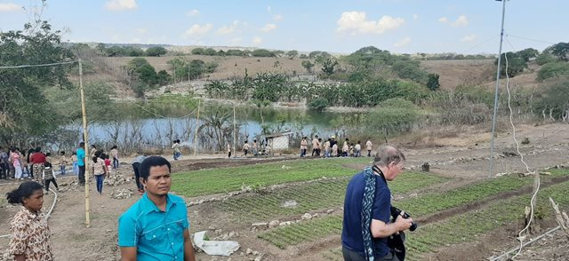 A Compassion Programme Marketing Garden that grows vegetables for communities in need in Indonesia