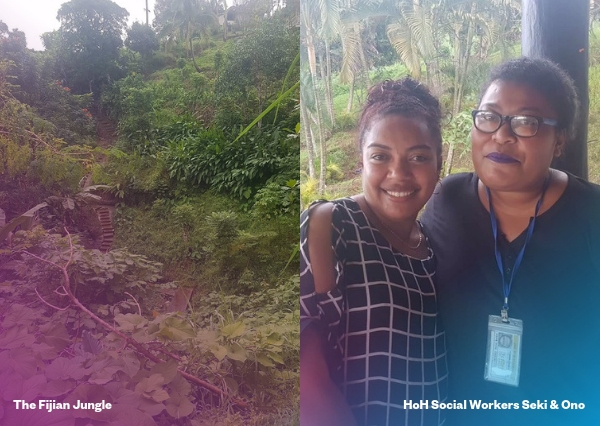 Homes of Hope Fiji Social Workers Seki and Ono. Tearfund NZ blog on a day in the life of a Programmes Specialist