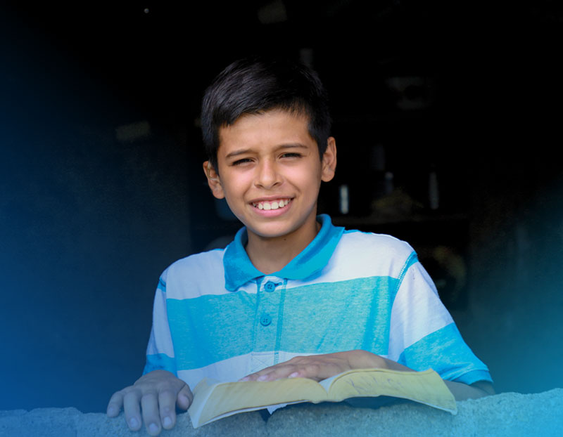 Denis can hear now thanks to child sponsorship.